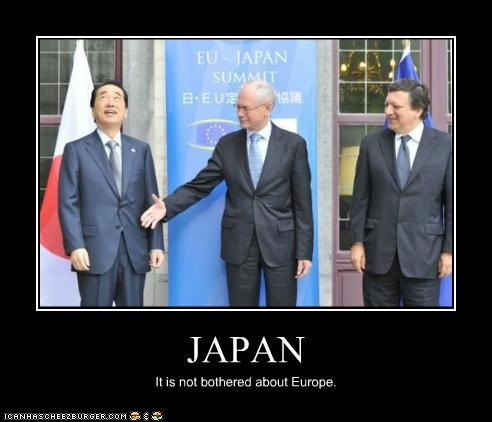 JAPAN It is not bothered about Europe.