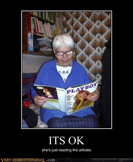 ok old lady playboy Pure Awesome wtf - 5042103808