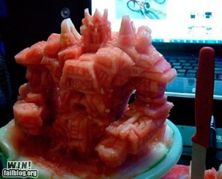 carving food nerdgasm optimus prime sculpture