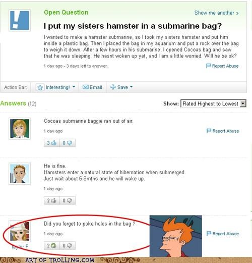 air,bag,dead,hamster,sister,submarine,wtf,Yahoo Answer Fails