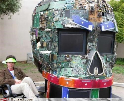 arts and crafts,motherboard,skull