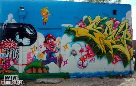 graffiti hacked irl mario Street Art Videogames - 5042403328