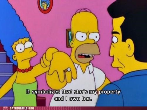 marriage property the simpsons We Are Dating wedding ring - 5042417664