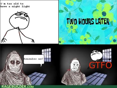 fear gtfo night Rage Comics scared shadowlurker