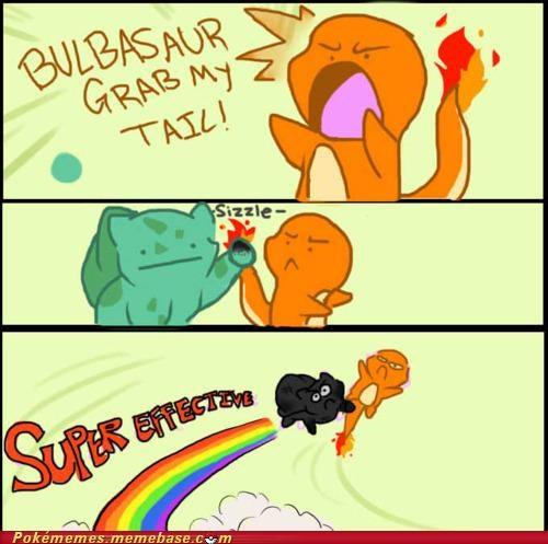 bulbasaur burn charmander fire grass Pokémans - 5042485504