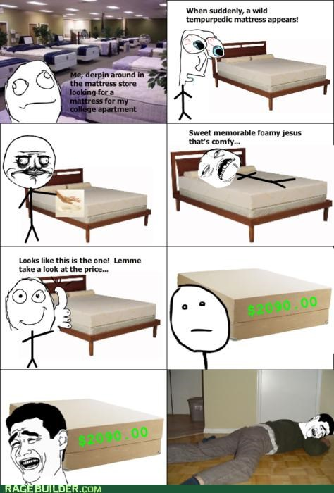mattress,me gusta,price,Rage Comics,Sad,sweet jesus have mercy