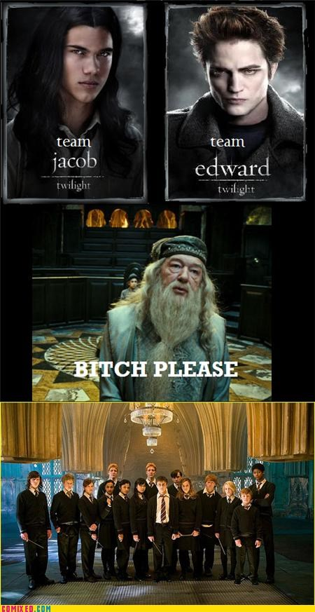 dumbledores-army Harry Potter team edward team jacob twilight - 5042586112