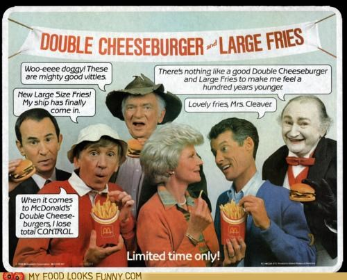 Ad,eddie haskell,gilligan,grandpa munster,jed clampett,june cleaver,maxwell smart,McDonald's