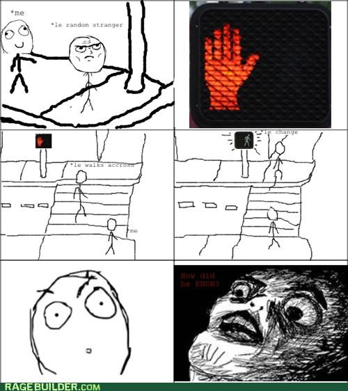 crosswalk dont walk Rage Comics raisin face walk