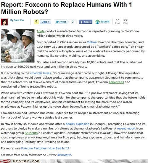 apple assembly Foxconn manufacturing news robots