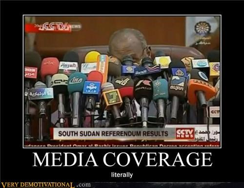 hilarious literally media coverage microphones