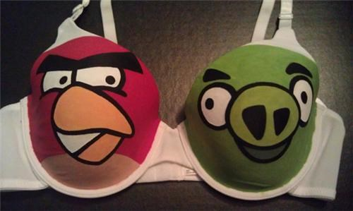 angry birds bra etsy merch video games