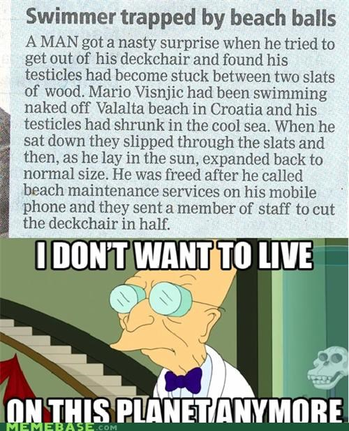 balls beach i dont want to live on this planet anymore sun swimmer - 5043281152