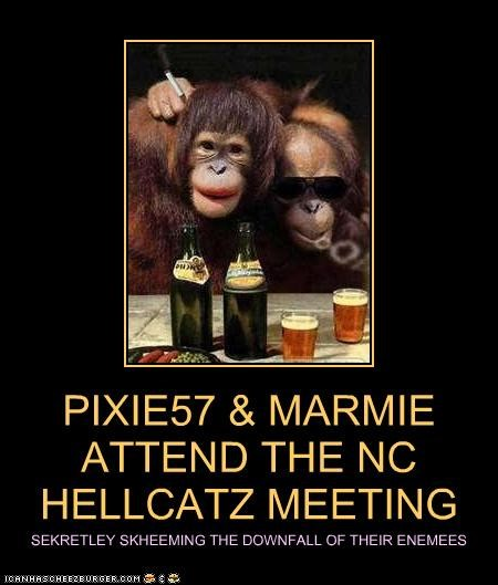 PIXIE57 & MARMIE  ATTEND THE NC HELLCATZ MEETING