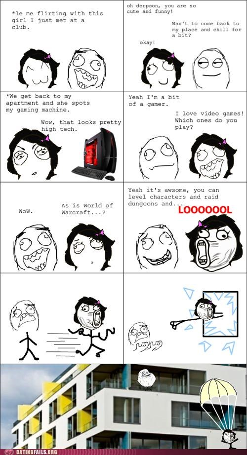 comic,forever alone,Hall of Fame,nerd,rage comic,world of warcraft