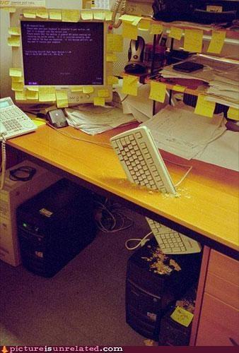 broken keyboard work wtf - 5043622912