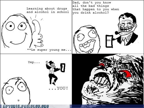 accident,alcohol,drugs,parents,Rage Comics