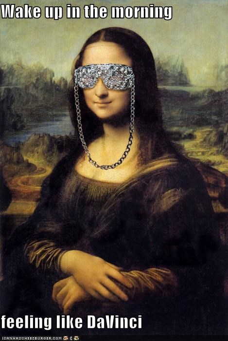 art color funny mona lisa painting shoop - 5044193792