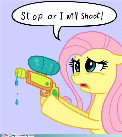fluttershy gun shoot trigger water gun - 5045584128