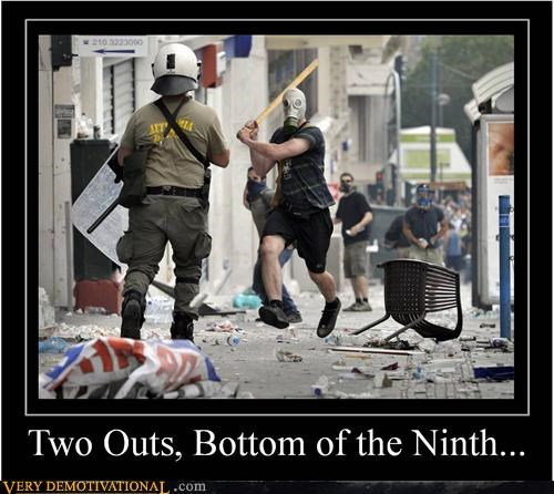 baseball bat gas mask riot scary Terrifying - 5045718016