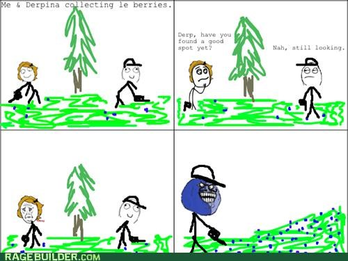 awesome,berries,blueberry man,i lied,Rage Comics