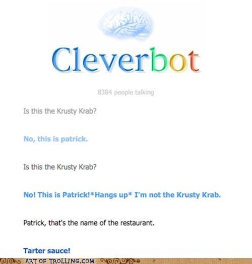 Cleverbot krusty krab patrick restaurant tartar sauce - 5046079488