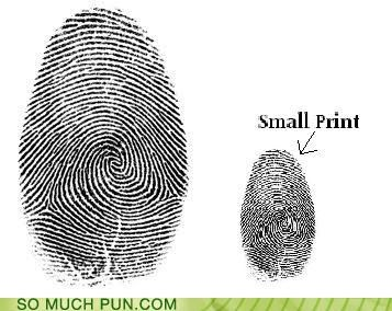 double meaning fingerprint literalism print prints small - 5046090240