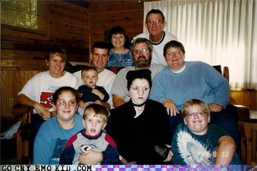 family,goth,life of the party,weird kid
