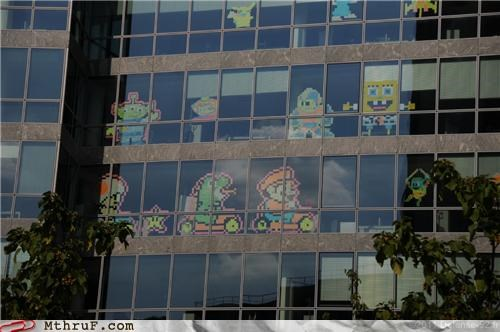 cartoons Hall of Fame office windows post it post-it notes video games