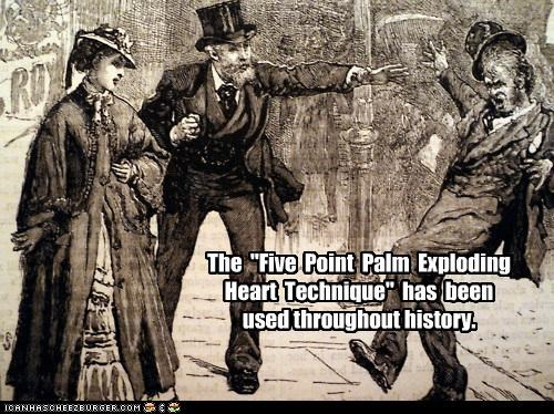 attack Death five point palm exploding heart heart historic lols history kung fu murder - 5046457088