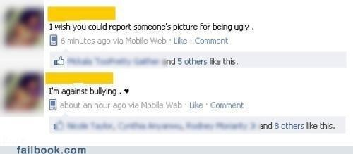bully cyberbullying Hypocrisy orly ugly - 5046569472