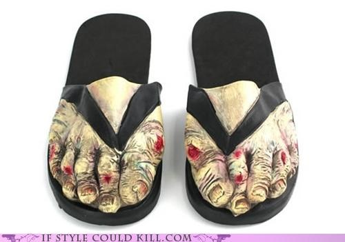 cool accessories,sandals,zombie