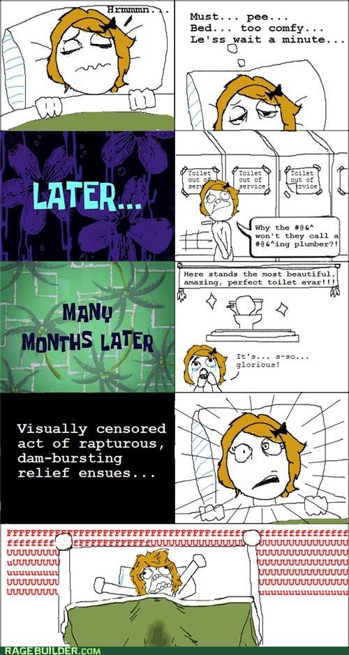 bathroom,bed wetter,peetimes,Rage Comics,well drawn