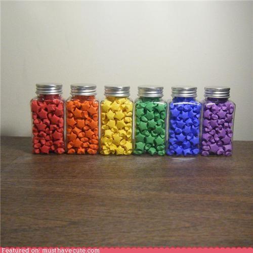 jars origami rainbow stars - 5046662656