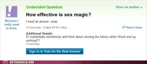 magic sex magic We Are Dating yahoo answers - 5046842368