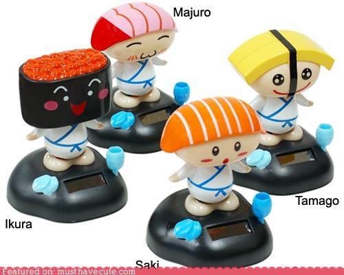 dance,dolls,elecrtronic,robots,solar,sushi