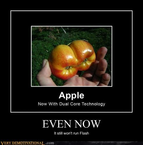 apple dual core flash hilarious product