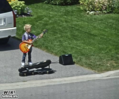 guitar kid lemonade stand punk street musician - 5047512064