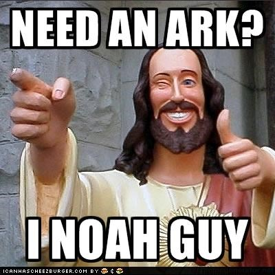 ark,cheesy,jesus,jokes,noah,puns