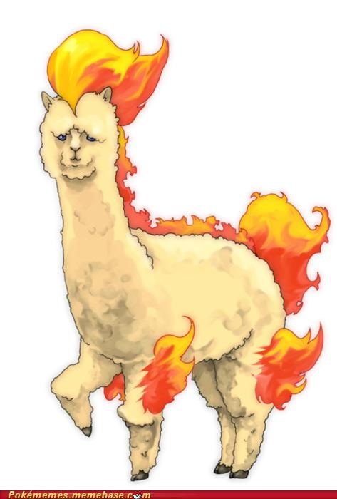 llama Pokémans ponyta whos-that-pokemon