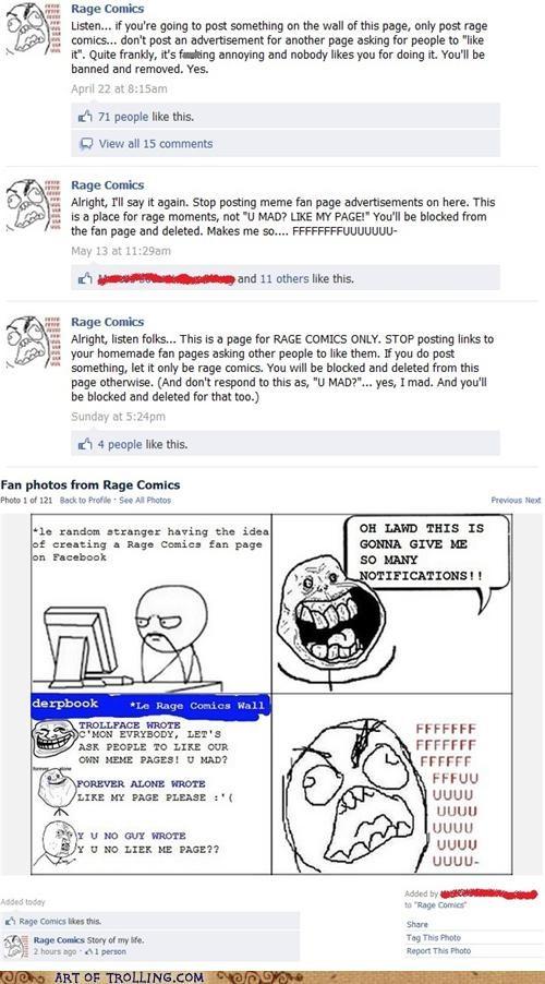 facebook forever alone Rage Comics - 5048391936
