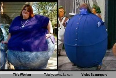 fat funny Hall of Fame lady Movie TLL violet beauregard Willy Wonka - 5048851456