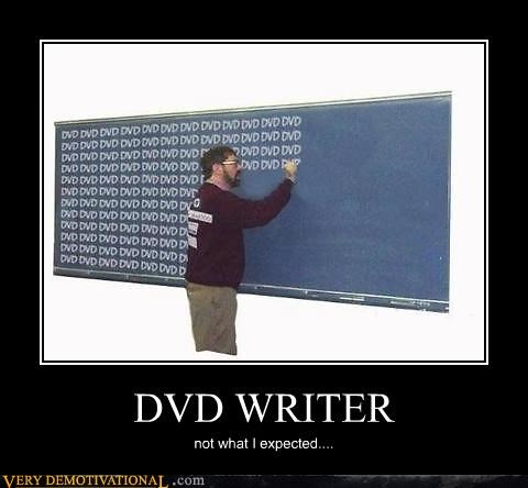 DVD WRITER not what I expected....