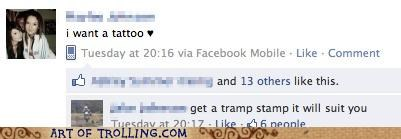 facebook,owned,tattoo,tramp,tramp stamp