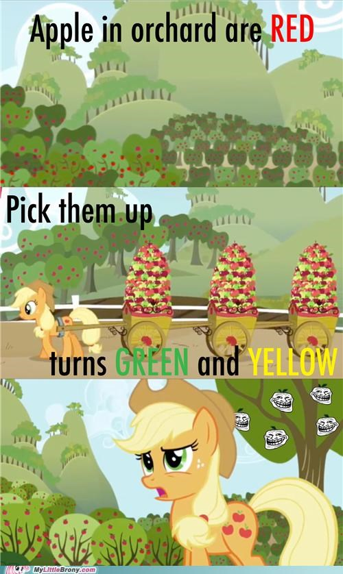 aj applejack applies color green red troll yellow - 5049004288
