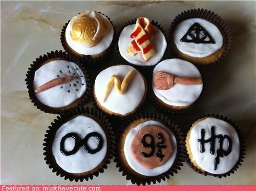 cupcakes,epicute,Harry Potter,logos,symbols