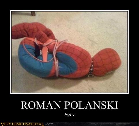 hilarious kids polanski Spider-Man tied up - 5049353984