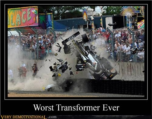car crash racing Sad transformer