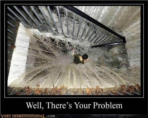 flood hilarious problem stairs wtf - 5049657856