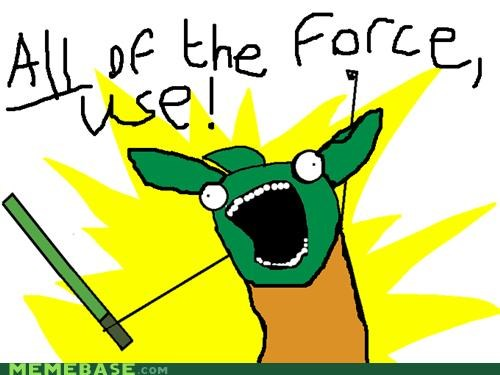 all the things,force,Luke,star wars,use,yoda